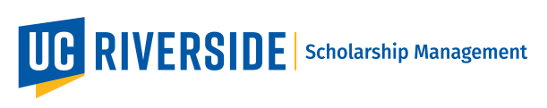 Logo for UC Riverside Scholarship Management