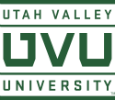 Logo for Utah Valley University Scholarships