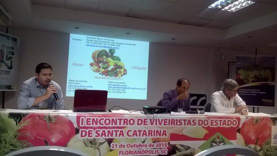 I Encontro de Viveiristas do Estado de Santa Catarina 21 de Outubro de 2015