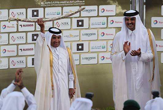 H.H Sheikh Mohammed Bin Khalifa Al Thani for the Amir Sword 2014