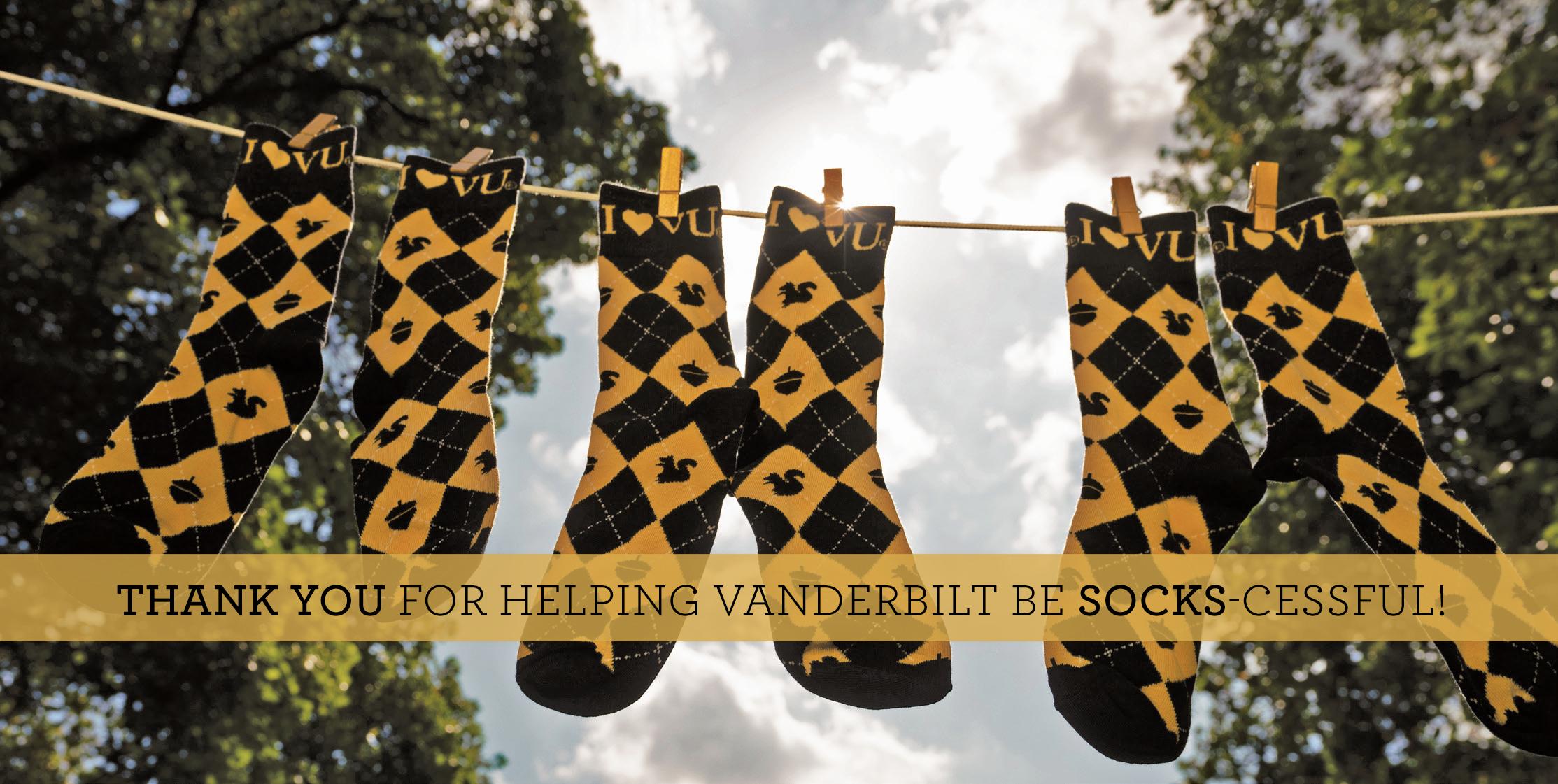 image of vanderbilt socks