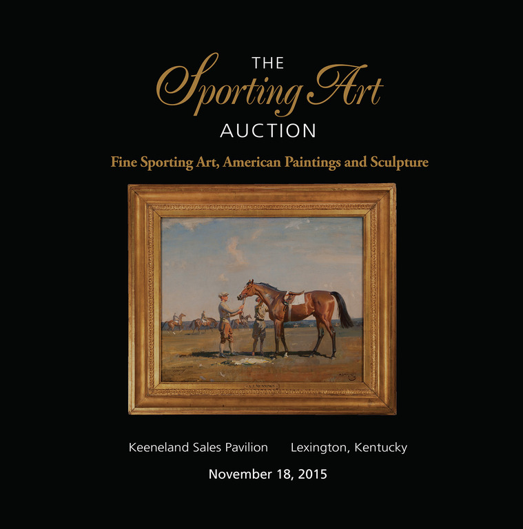 Catalog cover for The Third Annual Sporting Art Auction Cross Gate Gallery & Keeneland