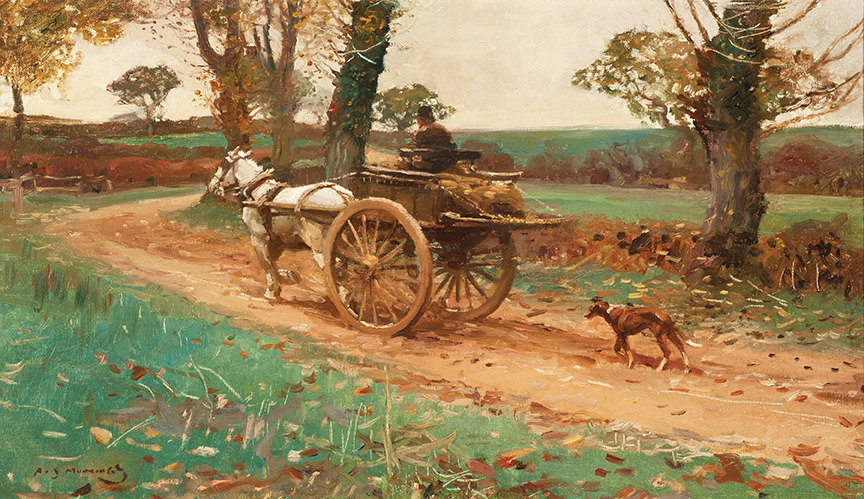 THE RETURN FROM MARKET by Sir Alfred James Munnings