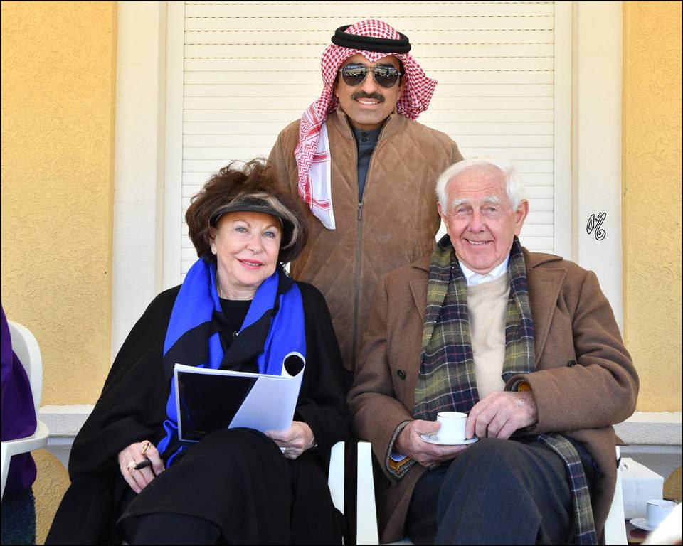 Mohammed Al Marzouq, Judith Forbis and Dr. Hans Nagel at Ajmal Arabian Stud