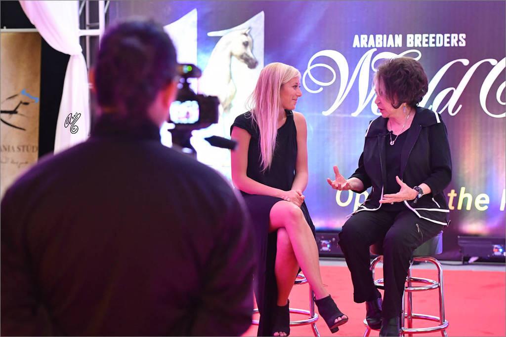 Media! Francesca Aragno (ITA) of Arabian Insider interviewing Judith Forbis (USA)