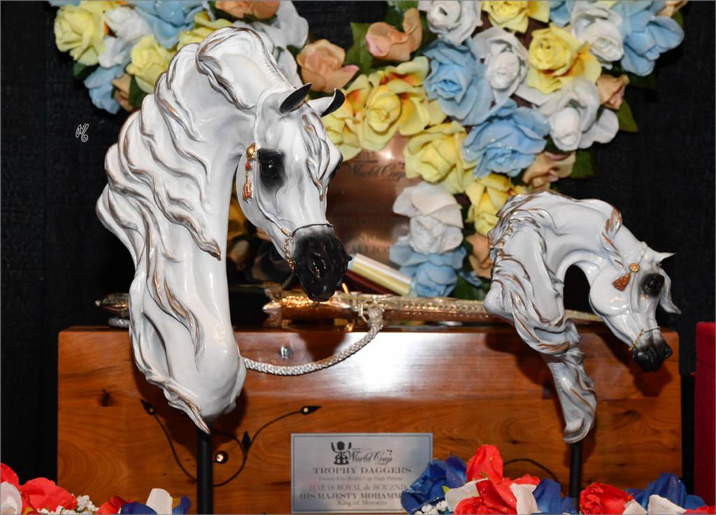 Championship bronze trophies by Carol Fensholt Nierenberg