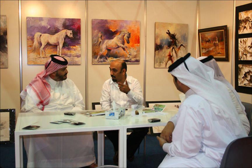Ali Almimar with Sheikh Abdulaziz bin Khalid Al Tahani (QAT) and his sons (2007)