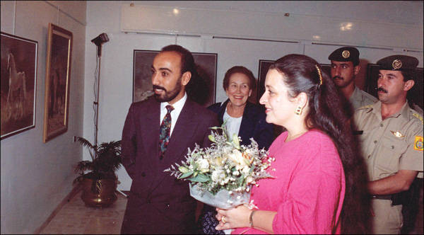 Ali Almimar with Princess Alia Al Hussein in Jordon (1993)