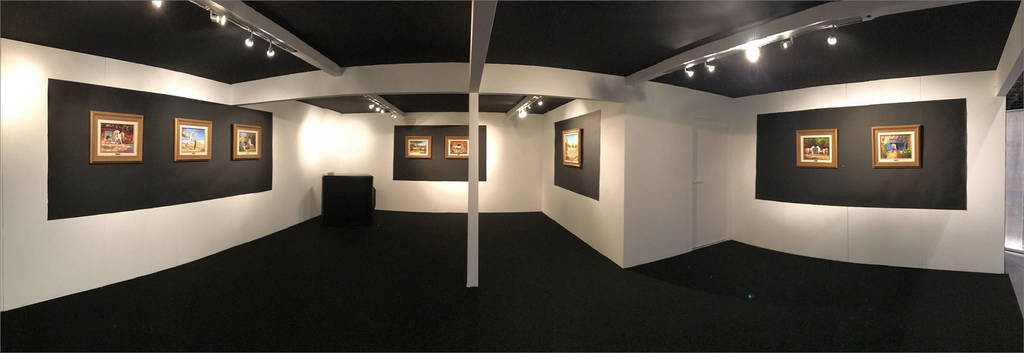 Ali Almimar's exhibition of work portraying the horses of Albadeia Stud