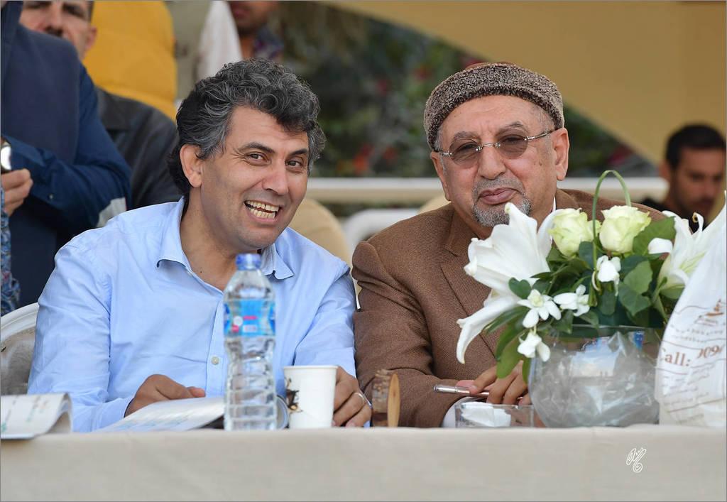 Mohamed Machmoun (left) and Sheikh Khaled bin Laden (right)