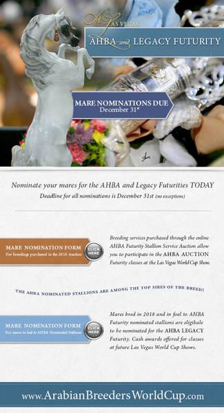 AHBA Futurity Nominations Due December 31st