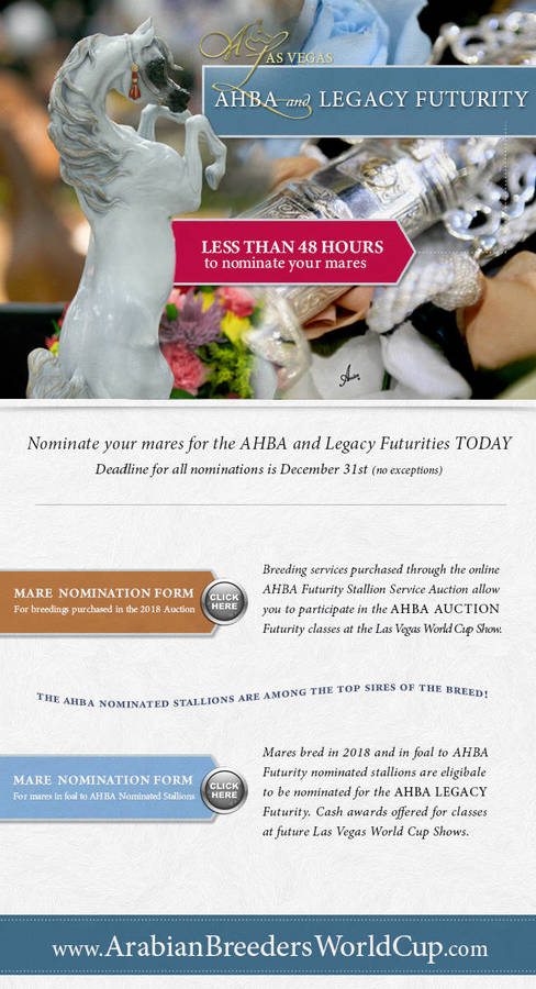 Deadline is less than 48 hours for the AHBA Futurity…