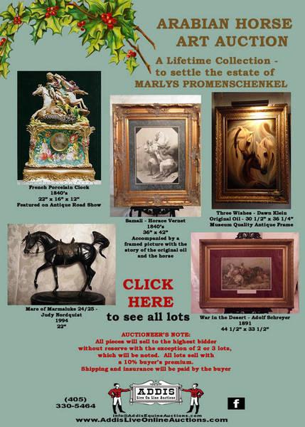 ARABIAN ART AUCTION for Marlys Promenshenkel estate