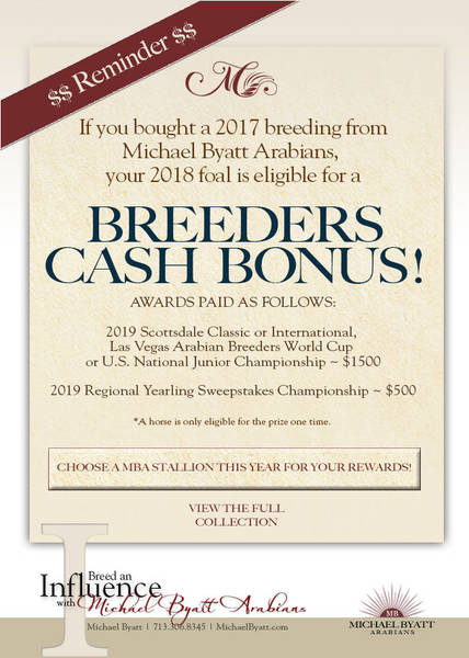 Have you purchases a breeding from Michael Byatt Arabians?