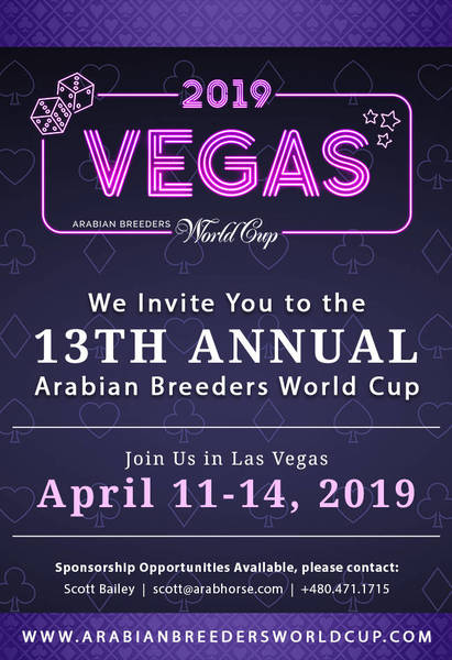 We invite you to the 13th Anniversary Arabian Breeders World Cup!