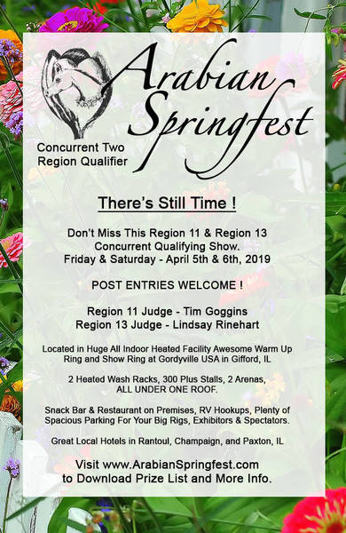 Arabian Springfest - There's Still Time!