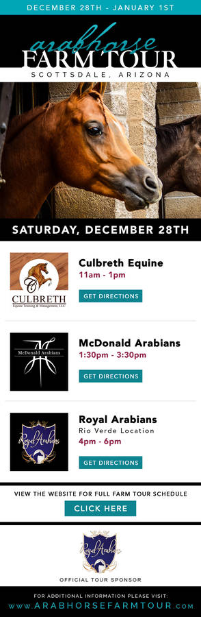 SATURDAY SCHEDULE ~ 2019/2020 ArabHorse Farm Tour