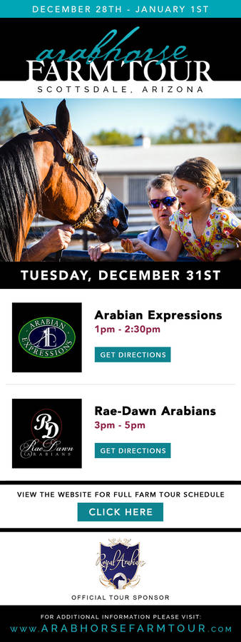 TUESDAY SCHEDULE ~ 2019/2020 ArabHorse Farm Tour