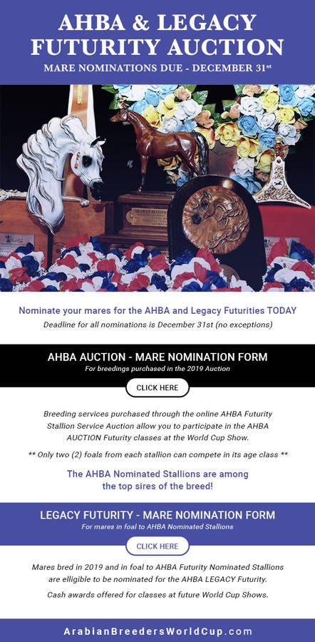 AHBA & Legacy Futurity Auctions Online Forms