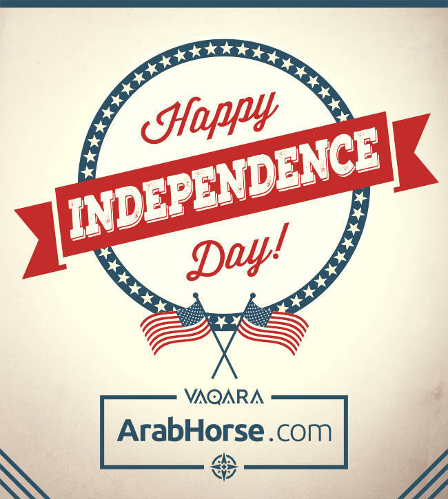 Happy Independence Day from ArabHorse.com!