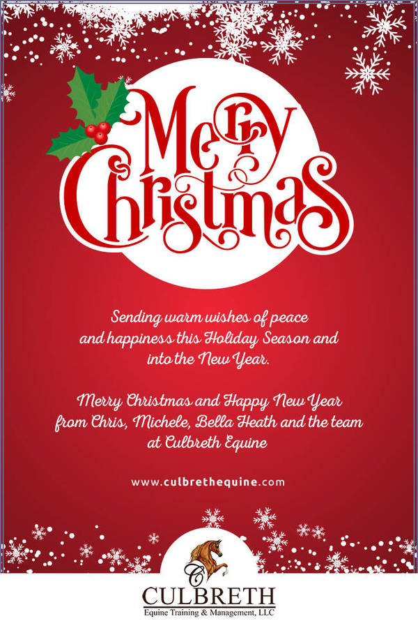 Merry Christmas from Culbreth Equine