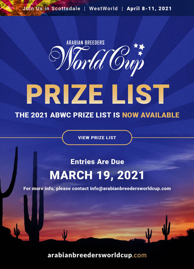 2021 ABWC Prize List is Now Available