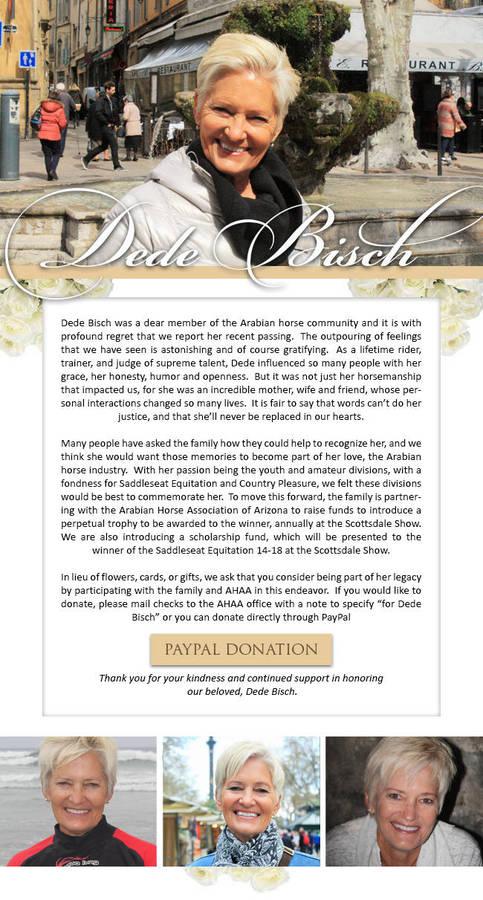 In loving memory of Dede Bisch