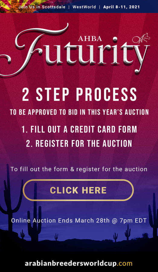 Register for the 2021 Online Futurity Auction with Two Easy Steps