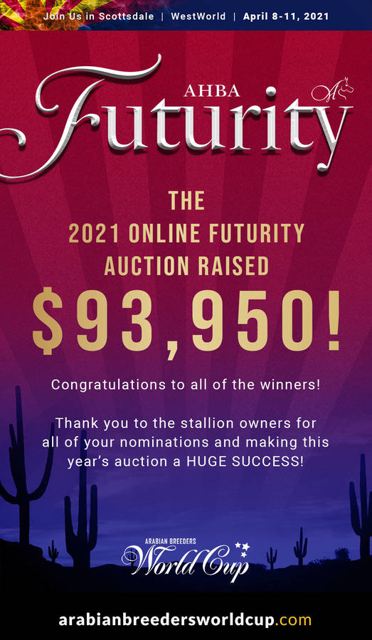 The 2021 AHBA Futurity Auction was a HUGE SUCCESS!