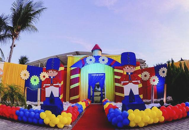 Festa completa para 50 pessoas com Decoração principal inclusa por R$2.780