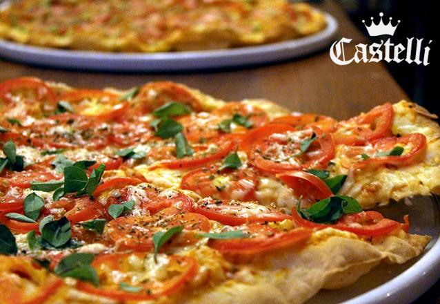 RELÂMPAGO: Pizza Grande (8 fatias) fina e crocante de R$33 por apenas R$22,90