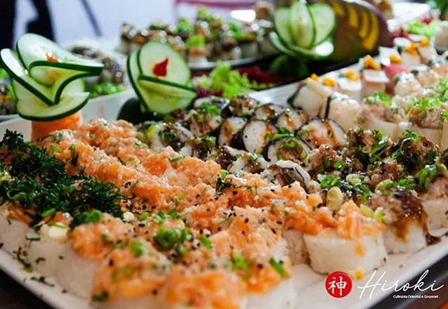 Perfeito para quem ama culinária oriental no Hiroki Sushi! Rodízio de Sushi + Buffet de pratos quentes e Bebidas para 1 pessoa de R$40 por apenas R$34,90 Válido para todos os dias em qualquer horário!