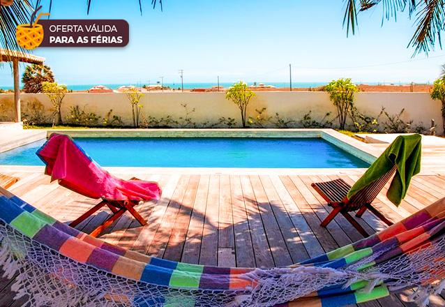 O paraíso! 2 diárias para 2 adultos + café da manhã na Pousada Vila Jodie, em Fortim por apenas R$299