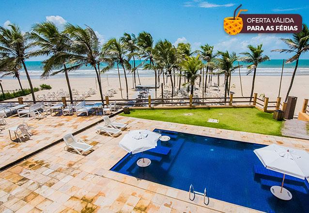 Férias no Milos Beach Hotel - Porto das Dunas! 2 diárias em Suíte Standard para 2 adultos e 1 criança até 5 anos por R$450