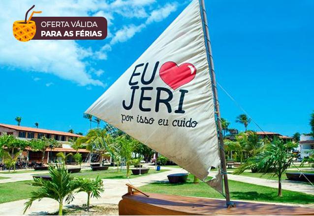 Relaxe nas suas férias em Jericoacoara! 2 diárias para 2 adultos e 1 criança de até 6 anos + café da manhã na Pousada Baruk de R$500 por R$300