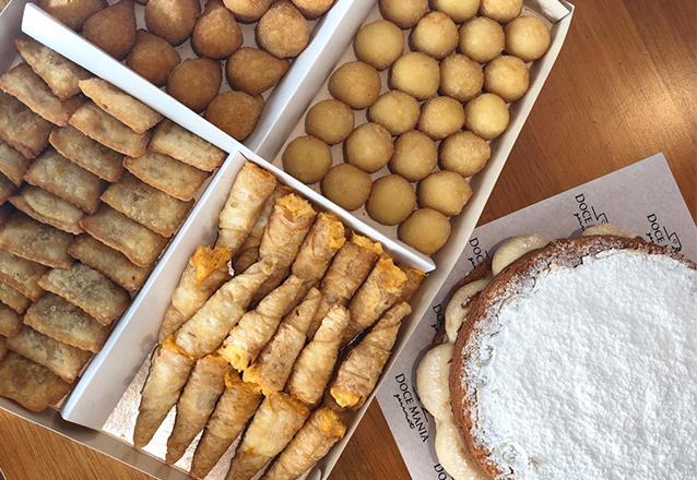 Kit festa completinho: 1 Torta Naked ninho ou chocolate (15 pessoas) + 100 Salgadinhos tradicionais de R$92 por R$69,99 na Doce Mania