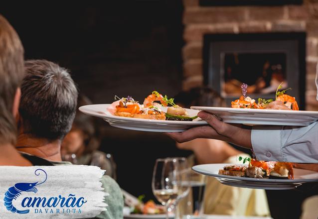 Seu evento no Camarão da Varjota! Entrada, Prato Principal e Sobremesa para 10 pessoas a partir de R$599