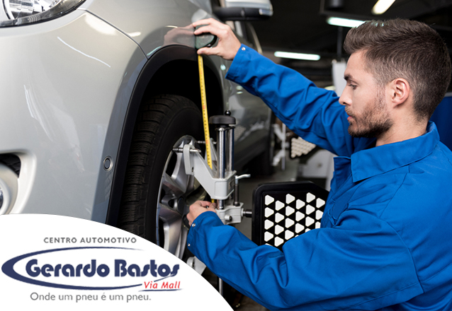 Alinhamento + Balanceamento + Regulagem de farol + Inspeção de suspensão para Carros Pequenos de R$84 por apenas R$59 na Gerardo Bastos Kennedy
