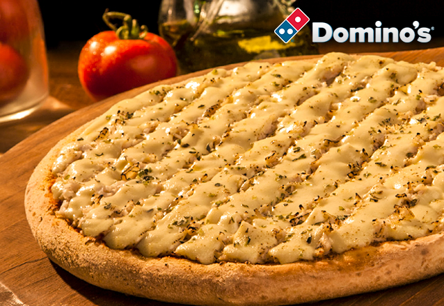 Se você é louco por pizza, você é louco por Domino's! 1 Pizza Grande por apenas R$35. Válido para as lojas Domino's Iguatemi, North Shopping, Edson Queiroz (Buena Vista Mall), Bairro de Fátima e Shopping RioMar Fortaleza. Válido para todos os dias!