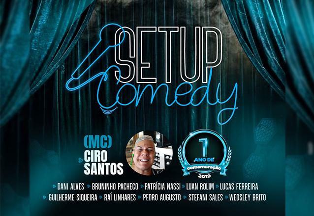 """Você merece se divertir! Ingresso Inteira para o """"Setup Comedy - Noite de novos Comediantes"""" de R$30 por R$14,99"""