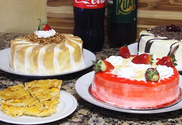 Kit Esmeralda - Torta para 10 pessoas, 100 salgados e 1 Refrigerante de 2L de R$69,90 por R$55,90