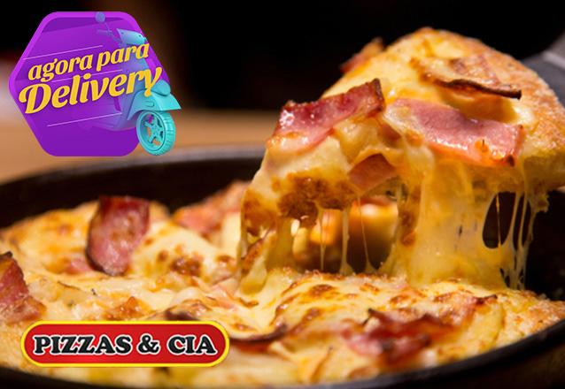 Pizza é sempre uma boa pedida! Pizza grande por apenas R$19,90 no Pizzas & Cia. Válido para Delivery!
