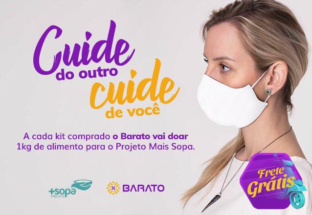 01 kit com 5 unidades (05 máscaras) por apenas R$30 reais