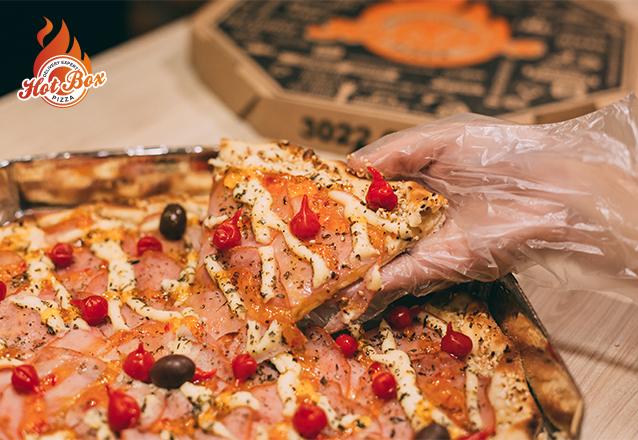 A Hot Box Pizza chegou no Barato com o cardápio mais ousado de Fortaleza! Pizza Grande Hot Supreme ou Peito de Peru Prime de R$65 por apenas R$45,50 + ganhe 20% extra em 1 pizza doce!