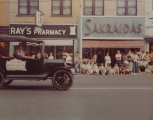 Ed Sahli, Sr. Drives An Old Car In A Parade In Beaver Falls I The Mid  Seventies. Photo Courtesy Of The Beaver Falls Historical Museum.