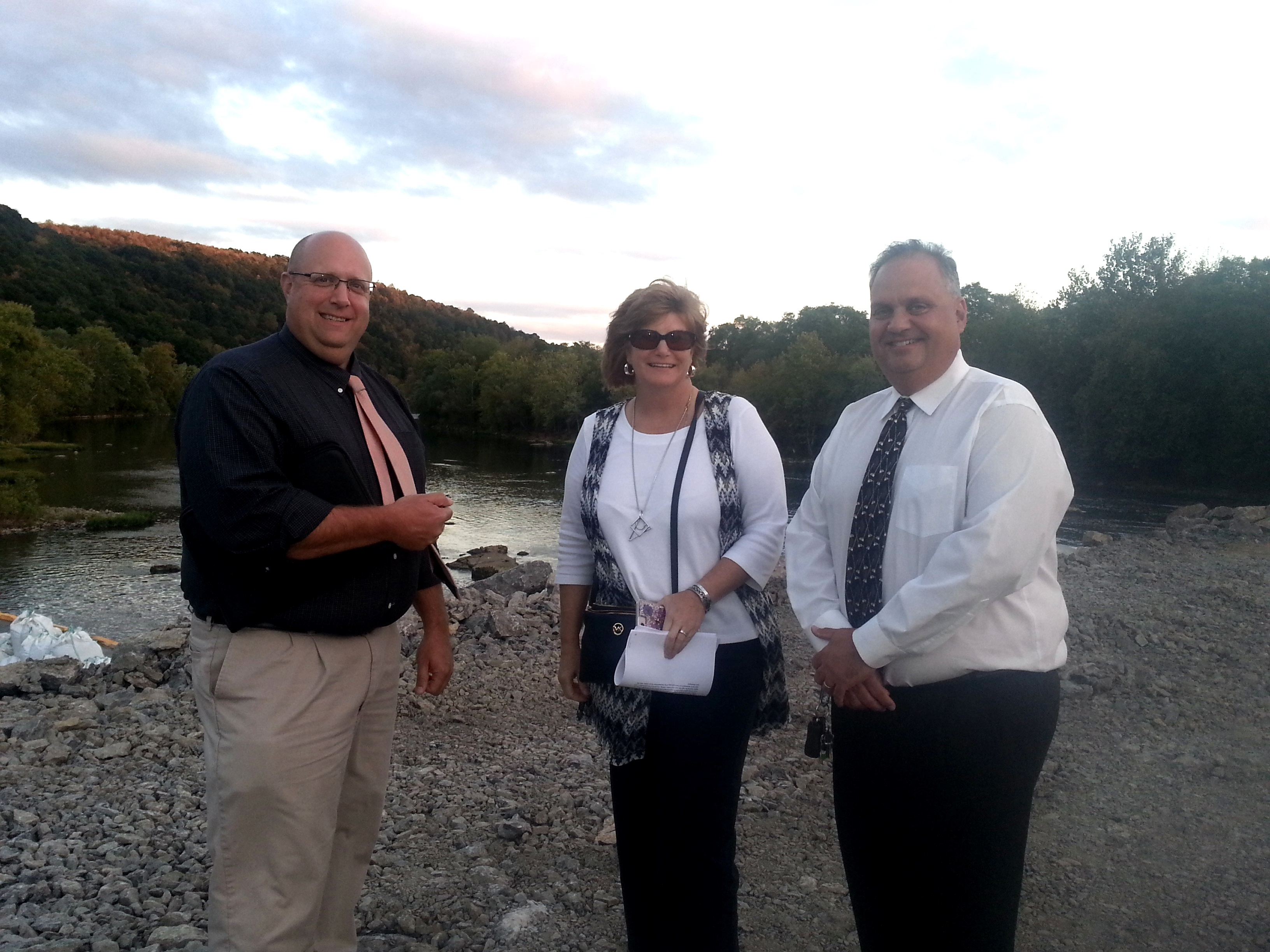 Beaver Falls Municipal Authority Shows Off Progress Of Dam Repair Beaver County Radio