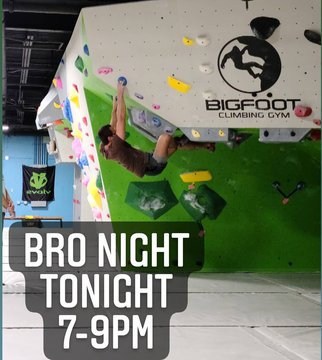 Bro Night tonight 7-9pm we have some fun new problems up💪  #bronight #@foodmattersmarketmorganton #downtownmorganton #downtownlenoir #downtownhickory #rockclimb #indoorbouldering #indoorclimbing