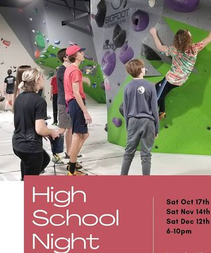 High School Night is this SATURDAY!! FREE to come hang out or $10 to climb. It will be a fun night to come be with your friends. #downtownmorganton #downtownmotown #downtownlenoir #downtownhickory #indoorclimbing #whattodosaturday #morgantonlife #morganto