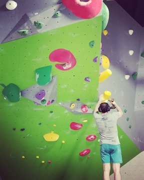 New routes going up, come by and check them out! 🌞#routesetters #indoorclimbing #downtownmorganton