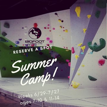 Looking for something fun for the kids this summer? Call or email is to reserve you spot for one of these weeks. 6/29-7/27  See our website to get more details.  www.bigfootclimbinggym.com  #summercamp #climbinggym #828isgreat #rockclimbing #downtownmorga